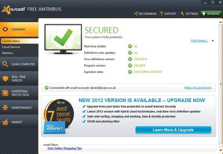 Avast! . 10.0 Free Antivirus Аваст антивирус скачать бесплатно.