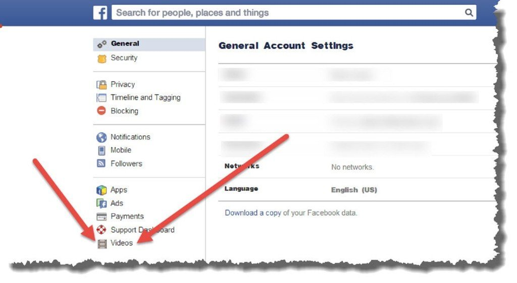 Facebook right and click Settings at the top 2