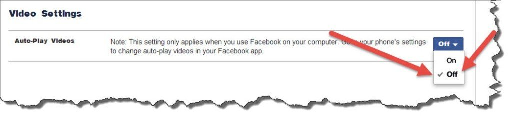 Facebook right and click Settings at the top