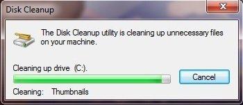 Disk Clean Windows 7 step 10