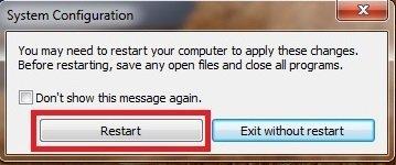 msconfig Windows 7 step 06