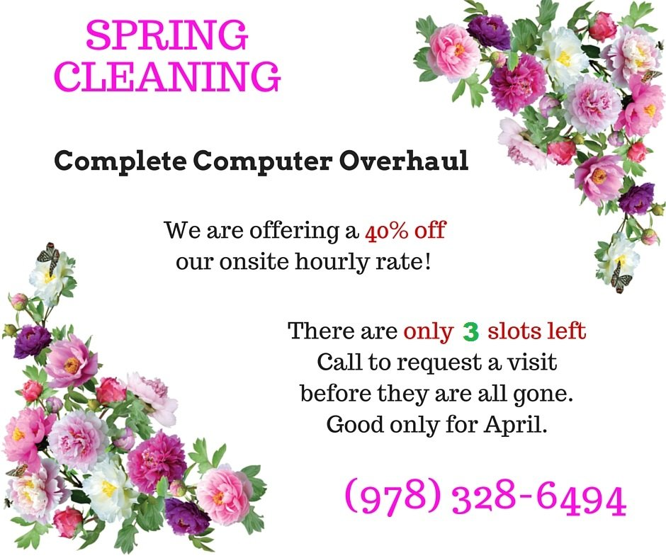 SPRING CLEANING 40% off computer tuneups